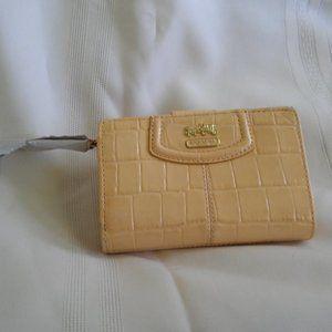 Coach Croc Embossed Patent BiFold Wallet